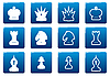 Vector clipart: Chess square icons set