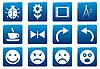 Векторный клипарт: Значки Гаджет квадрата