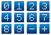 Vector clipart: Digits square icons set
