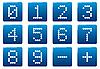 Векторный клипарт: Цифры квадратных иконок