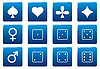 Vector clipart: Games square icons set