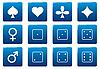 Векторный клипарт: Игры квадратных иконок