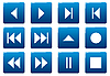 Vector clipart: Media square icons set