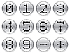 Matrix digits icons set