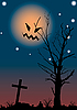 Halloween night scene | Stock Vector Graphics
