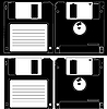 Vector clipart: Diskette of 3.5 inches