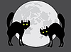 Vector clipart: Two black cats