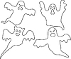Vector clipart: company of ghosts
