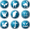 Vector clipart: Icons. theme of Halloween