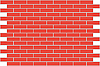 Wall of red bricks - background