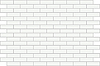 Vector clipart: Wall of white bricks - background