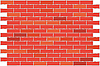 Vector clipart: Wall from red brick. background