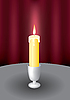 Vector clipart: Candle and fire