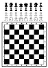 Vector clipart: Set of chess and chessboard