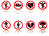 Vector clipart: set of cartoon signs