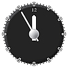 Vector clipart: Office clock. Techno style