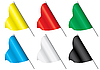 Vector clipart: Set of multi-coloured flags