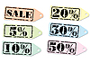 Vector clipart: Set of labels for the discount