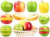 Photo 300 DPI: Abstract set of fresh strange fruits