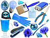 Abstract set of blue objects   Stock Foto