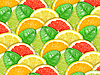 Background with citrus slices and green leaves | Stock Foto