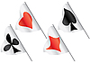 Vector clipart: Cards symbols on flags