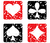 Vector clipart: Set of game cards. Grunge stamp