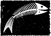 Vector clipart: Skeleton of fish. Fun