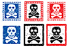 Vector clipart: Stamp with skull