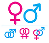 Vector clipart: Male and female symbols