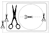 Vector clipart: Frames and scissors