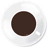 Vector clipart: Black coffee in white mug