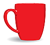 Vector clipart: Red mug background