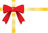 Vector clipart: Ribbon and red bow for gift