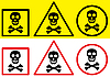 Vector clipart: Danger label with skull symbol