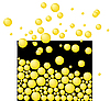Vector clipart: Free yellow bubbles. Abstract