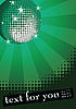 Vector clipart: Disco ball on green