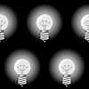 Векторный клипарт: Фон с электрическим сфере форма лампы