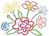 Vector clipart: Still-life with flowers