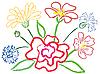 Vektor Cliparts: Stilleben mit Blumen