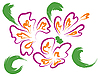 Vector clipart: Still-life with purple flowers
