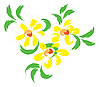 Vector clipart: Still-life with yellow flowers