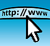Vector clipart: Abstract line for input web-adress and cursor