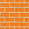 Vector clipart: Background as wall of red bricks