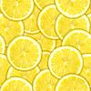 Jednolite wzór żółtych plasterki cytryny | Stock Foto