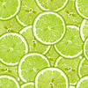 Photo 300 DPI: Seamless pattern of green lime slices
