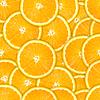 Photo 300 DPI: Seamless pattern of fresh orange slice