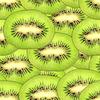 Photo 300 DPI: Seamless pattern of green kiwi slices