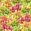 Photo 300 DPI: Seamless pattern of fresh ripe motley grape