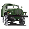 Vector clipart: army track